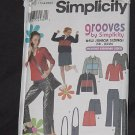 Simplicity 9392 Juniors Jacket Pants Skirt Bag Knit Top Size BB 17/18-23/24 No. 190
