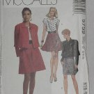 5759 McCalls Misses'  Unlined Jacket Top Skirts sewing Pattern Size  Uncut No. 192