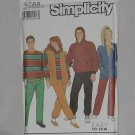 9788 Simplicity Pants Tops Cardigan sewing Pattern Size ssxm-xl Uncut No. 193