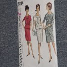 Vintage pattern 6094 Simplicity woman One piece Two Piece Dress Half Size  Size 22 Bust 44  No. 193