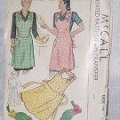 1940s Pattern Simplicity 1105 vintage Aprons Sizes Small No. 196