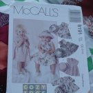 McCalls 8191 Size CC 2,3,4 Toddlers Dress Hat  No. 201