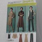 Simplicity 2539 Jumper Pants Jacket or Vest Uncut Size AA 10, 12, 14, 16,28 No. 204