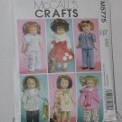 McCall's Crafts 5775 Doll Clothes 18' Doll Toy Dog  No. 204