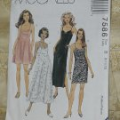 McCalls 7586 Dress Two Lengths empire waist Size B 8, 10, 12  No. 206