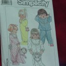 Simplicity 9432 Toddler one piece two piece pajama Pajama Bag No. 206