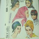 McCall's 8009 4 Quickie Hats Vintage Pattern from 1965  No. 207