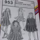 Ann Person 953 Stretch & Sew Girls Princess Dresses and Top No. 207
