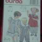 Burda 4886 Child's Dress Jumpsuit Top Pants Size 12 m 18 m 2, 3, 4 No. 207