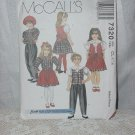 McCall's 7320 Children's Girls Blouse Lined Vest, Pull-on Pants, Skirt Size CL 6.7,8  No. 207