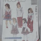 McCall's 7262 Children's  Lined Vest, Blouse, Pull-on Pants, Skirt Size CF 4,5,6 No. 207
