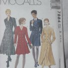 McCalls 7884 Uncut Lined or unlined Dress Two Lengths Size B  8,10,12  No. 206