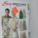 M5366 Craft Aprons Stitch'n Save Misses' Men's Aprons Size A Sml-Med-Lrg-Xlg