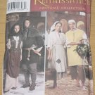 8587 Simplicity Renaissance Costume Theater Halloween Re-enactment  Size A XS, X, M, L, XL Uncut