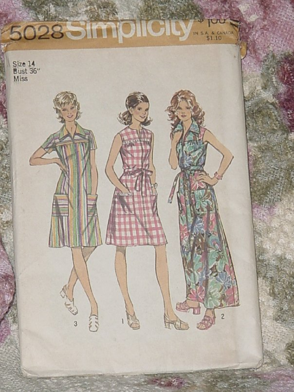 Simplicity 5028 Misses Womens Smock Dress Size 14 Uncut No. 210