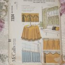 7224 McCall's  Cafe Curtains Round Cloth fabric felt No. 210