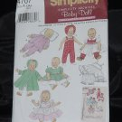 Simplicity 4707Archives Baby Doll Doll clothes in 3 Sizes Uncut  No. 216