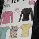 New Look 6106 Five Tops in One Size A-8-18 No. 216
