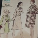Vogue 7998 Half Size Dress Coat Size 12 Bust 34  No. 216