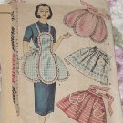 vintage Simplicity Pattern 4479 Ladies Misses Aprons One Yard Apron  No. 188