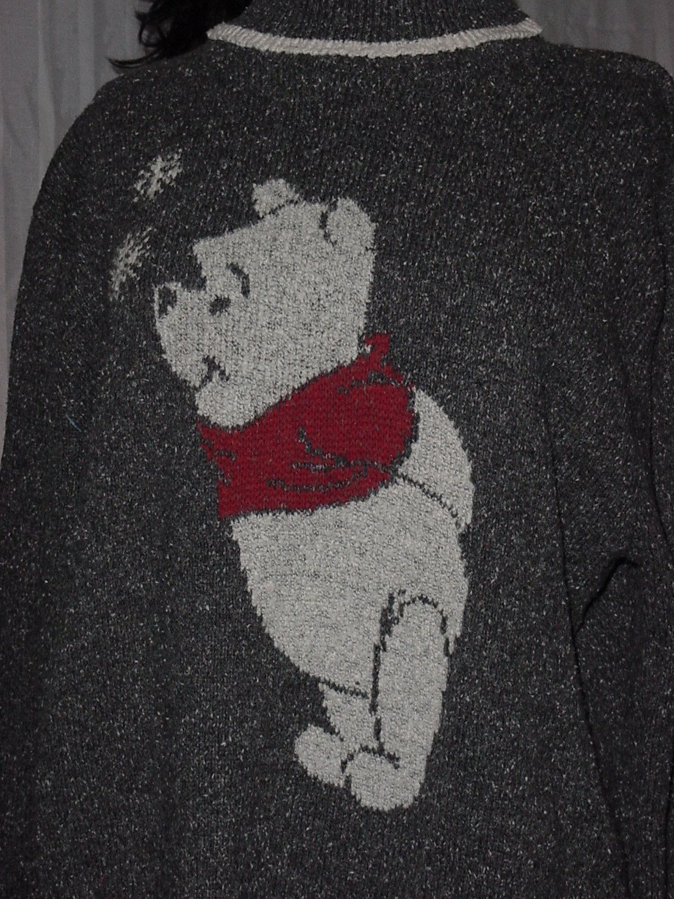 Winnie the Pooh Gray Woman's Sweater Size XXL The Disney Store No 240