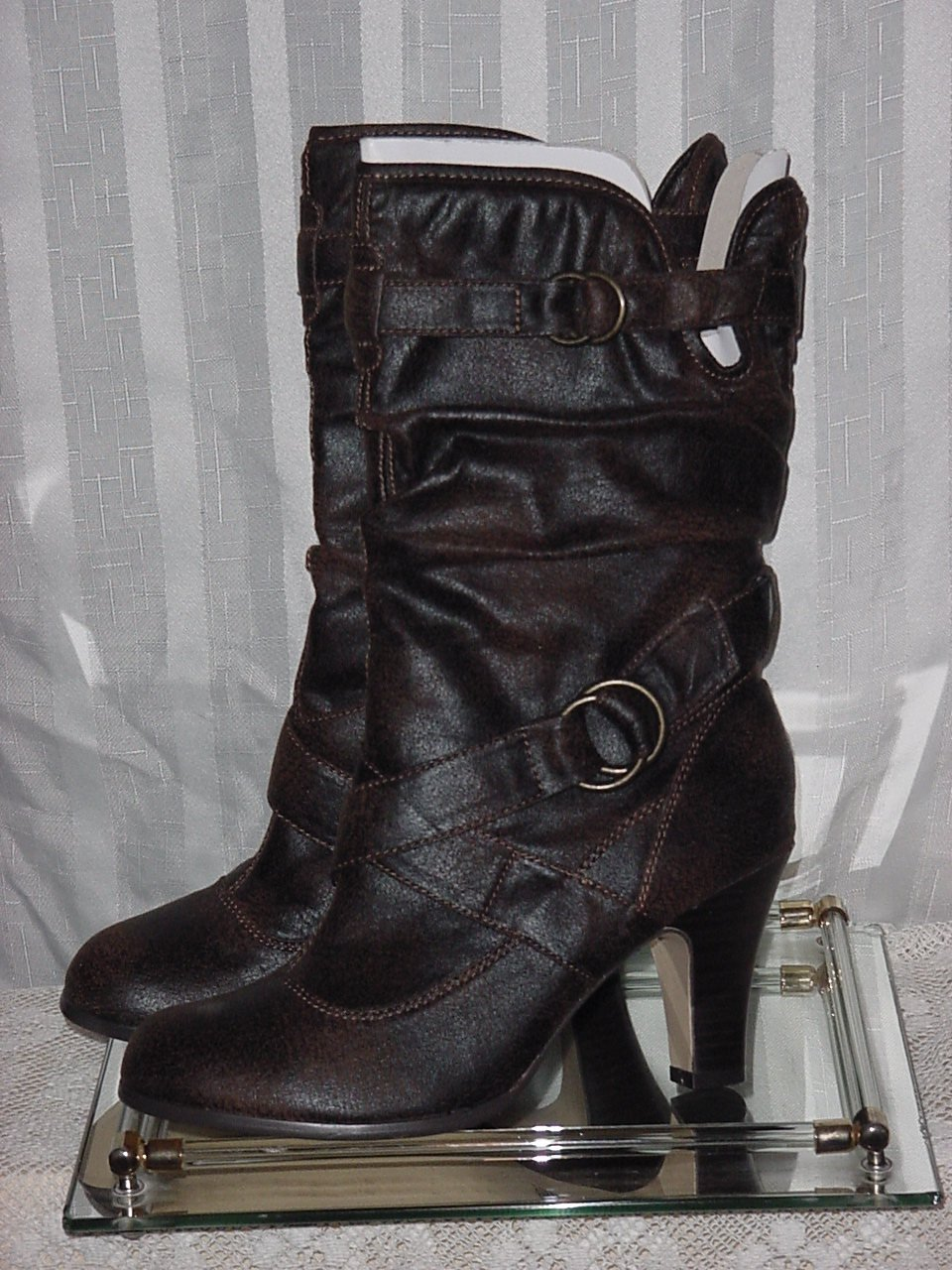 Womens Boots Ponder Calf High Fashion Boots 7M  No. 189