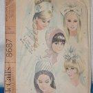Vintage McCall's Pattern 8687 Bridal Caps Veils Women's Hats