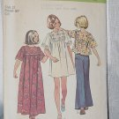 Vintage Simplicity 6123 Sewing Pattern Girls Dress in Two Lengths Top  size 12 chest 30  No. 220