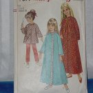 Vintage Simplicity 7371 Sewing Pattern Girl Robe Top Pants size 8  No. 220