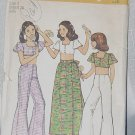 Top Bell Bottom Wrap Skirt Pattern Simplicity 6425 Size 7 Chest 26 No. 220