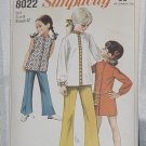 Simplicity 8022 Mini dress Top Bell Bottom Pants Girls Size 8 Breast 27 No. 220