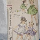 Vintage Simplicity Pattern 3807 Toddler Size 2 Dress Pinafore Panties DL 2