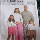 Butterick  5153 Very Easy Misses'/Men's/Children's/Boys'Girls' Shorts Pants  No. 193