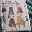 McCall's Skirt Culotte Pants Knickers 8182   No. 193