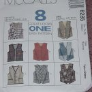 Vests 8 great looks easy pattern 8285 Medium Size 34, 36  No. 193