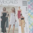 Evening Elegance McCall's evening gowns Pattern 9403 Size D 12, 14, 16  No. 193