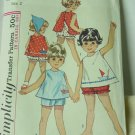 Toddler Top shorts panties vintage sewing pattern Size 2 Simplicity 5519  No. 193
