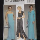 Dress uncut Butterick pattern 4731 AA 6-8-10-12 Uncut shrug dress No. 225