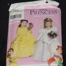 Simplicity 0690 Disney Princess Halloween Theater Costumes for Child Size A 3-8 No. 225