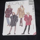 McCalls 6795 Lined Unlined Coat Tie Belt Size Y Xsm, Xml, Med    No. 225