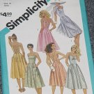 Simplicity 6408 Fitted Sun Dress Flared Skirt Size 10 Miss No. 167
