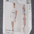 McCalls 8154 One and Two Piece Dress fitted size F 16, 18, 20  No. 167