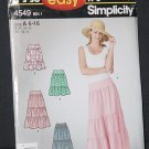 Simplicity 4549 It's so Easy Skirts Size A 6-16  No. 226