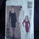McCalls 6295 Misses' Semi Fitted Dress Size B 8, 10, 12 No. 226