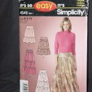 It's Simplicity 4549 BIN 1 It's so Easy Skirts Size A 6-16  No. 226
