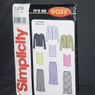 Simplicity 5379 Knit Cardigan, Top, Bias Skirt Size 8-18 Uncut No. 226