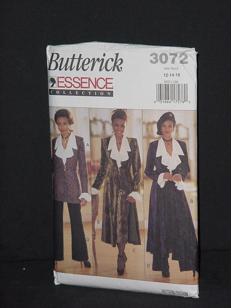 essence collection 3072 butterick jacket duster blouse. Black Bedroom Furniture Sets. Home Design Ideas