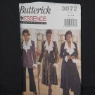 Essence Collection 3072 Butterick Jacket Duster Blouse Skirt Pants  Size 14-16-18  No. 226