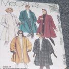 McCalls 5645 Misses' Lined Coat Unlined Cape Size 14, 16 No. 226