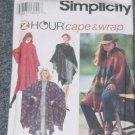 Simplicity 9223 2 hour cape and Wrap Size A One Size No. 226